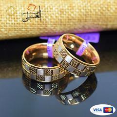 دبل زفاف ذهب عيار 18 من ايجيبت جولد Egypt gold 5600