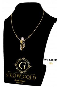 كوليه ذهب عيار 18 من جلو جولد Glow Gold 3775