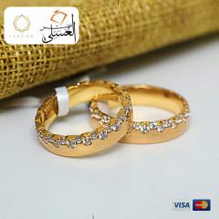 دبل زفاف ذهب عيار 18 من ايجيبت جولد Egypt gold 5550