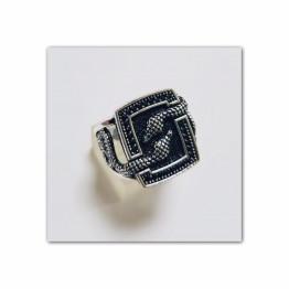 خاتم رجالى فضة عيار 925