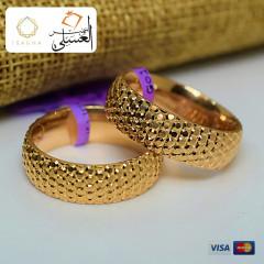 دبل زفاف ذهب عيار 18 من ايجيبت جولد Egypt gold 5485