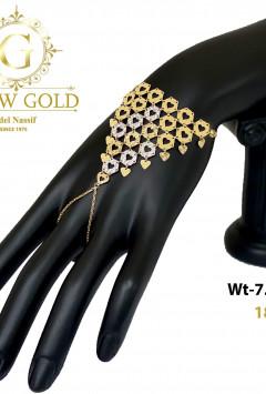 انسيال ذهب عيار 18 من جلو جولد Glow Gold 6415