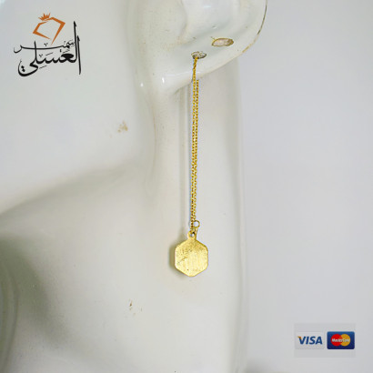 حلق ذهب عيار 18 من AVVA Gold 860