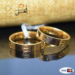دبل زفاف ذهب عيار 18 من ايجيبت جولد Egypt gold 4575