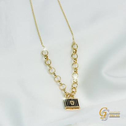 كوليه ذهب عيار 18 من جيد جولد Gaied Gold 7395