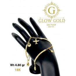 انسيال ذهب عيار 18 من جلو جولد Glow Gold