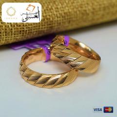 دبل زفاف ذهب عيار 18 من ايجيبت جولد Egypt gold 4530