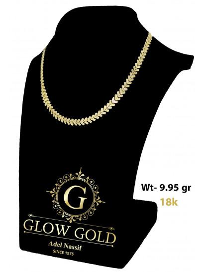 كوليه ذهب عيار 18 من Glow Gold 8375