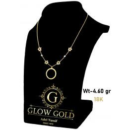 كوليه ذهب عيار 18 من جلو جولد Glow Gold