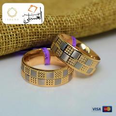 دبل زفاف ذهب عيار 18 من ايجيبت جولد Egypt gold 5580
