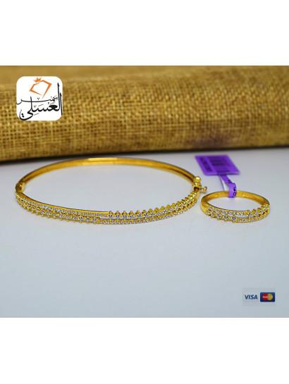 نصف طقم ذهب عيار 18 من ايجيبت جولد Egypt gold 7405