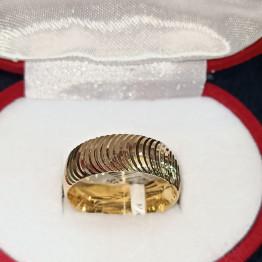 دبل زفاف ذهب عيار 21 من Mesho gold