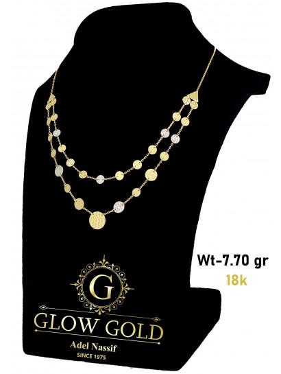 كوليه ذهب عيار 18 من Glow Gold 6485