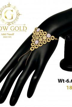 انسيال ذهب عيار 18 من جلو جولد Glow Gold 4095