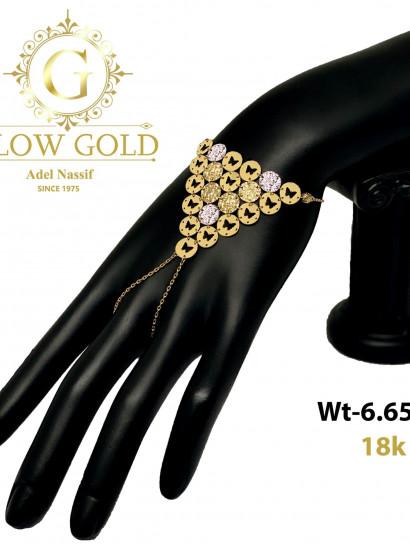 انسيال ذهب عيار 18 من Glow Gold 3975