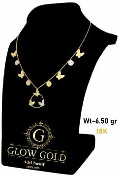 كوليه ذهب عيار 18 من جلو جولد Glow Gold 5635