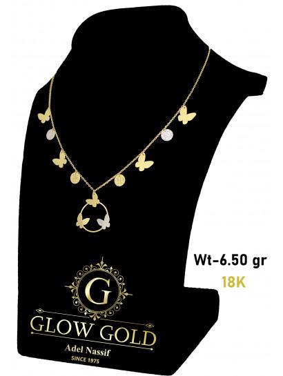 كوليه ذهب عيار 18 من Glow Gold 5475